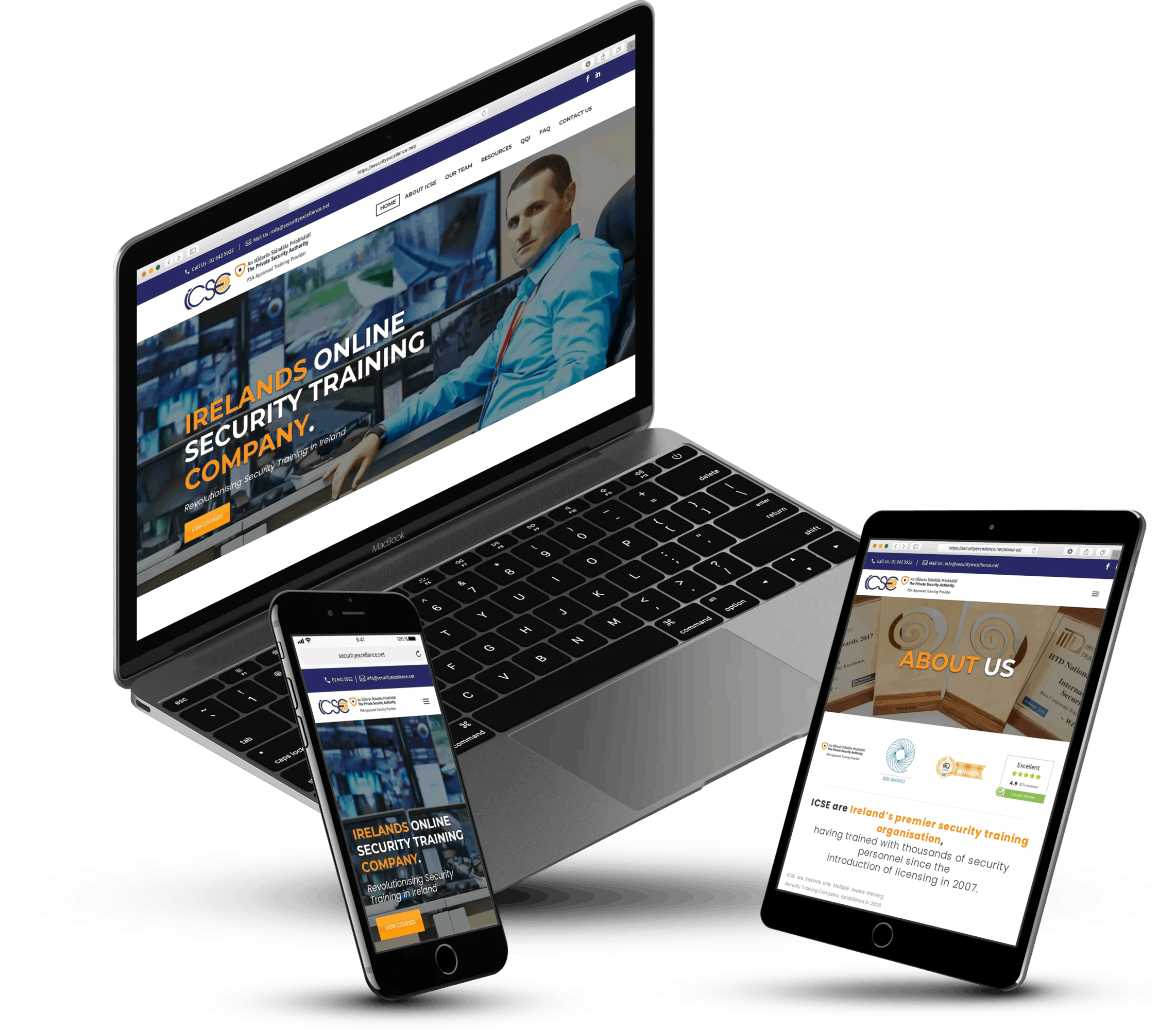 security excellence web design