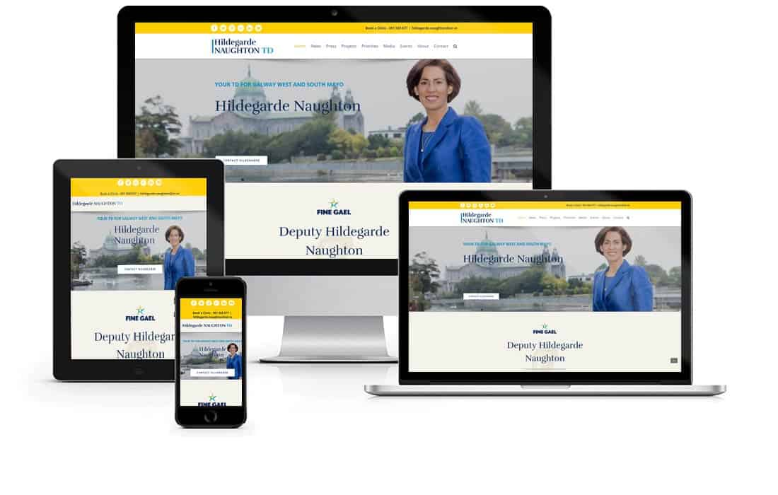 Fine Gael Deputy Website Design